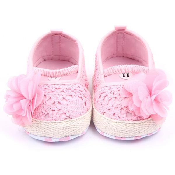 Baby Girls Flower Princess Knittng Crocheted Crib Shoes Infant Toddler Pre walker Summer Shoes