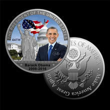 Silver Coin American 45th President Donald Trump Coin US White House The Statue of Liberty Silver Metal Coin Collection