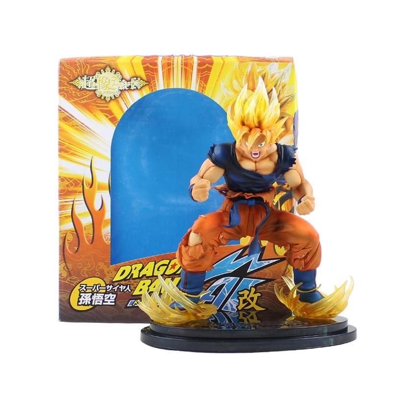 26 cm grande taille! Figurine Dragon Ball Z Goku jouets Super Saiyan Son Goku PVC figurine modèle jouets en boîte cadeaux de haute qualité