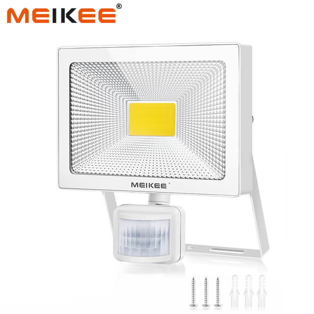 10W 20W 30W 50W LED Flood Light with Motion Sensor AC110V 220V LED Floodlight IP66 Waterproof Outdoor Spotlight for Garden
