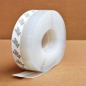 Image 3 - מעשי רצפת מדבקות שקוף Windproof סיליקון איטום רצועת בר דלת רצועת איטום עמיד dustproof מדבקה #65