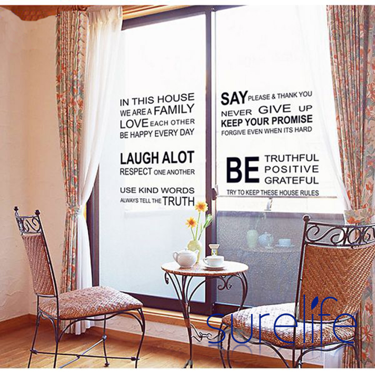 In This House We Are Family Love Each Other...Large Wall Picture For Living  Room Word Art Quote Wall Sticker Size 115*60cm In Wall Stickers From Home  ... Part 62