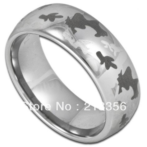 usa wholesales cheap price brazil russia canada uk hot sales 8mm silver dome camo men bridal tungsten wedding ring - Cheap Camo Wedding Rings