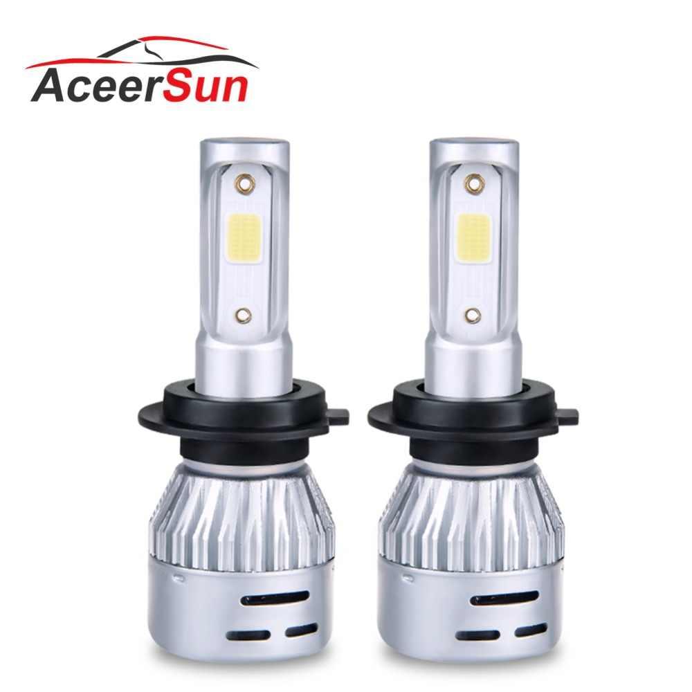 1 pcs LED H4 H7 H11 9005 9006 9012 H7 LED Car Headlight Bulb 8000LM MINI 12V 72W 50000h 4300k 6500k COB Hight Low beam Fog light