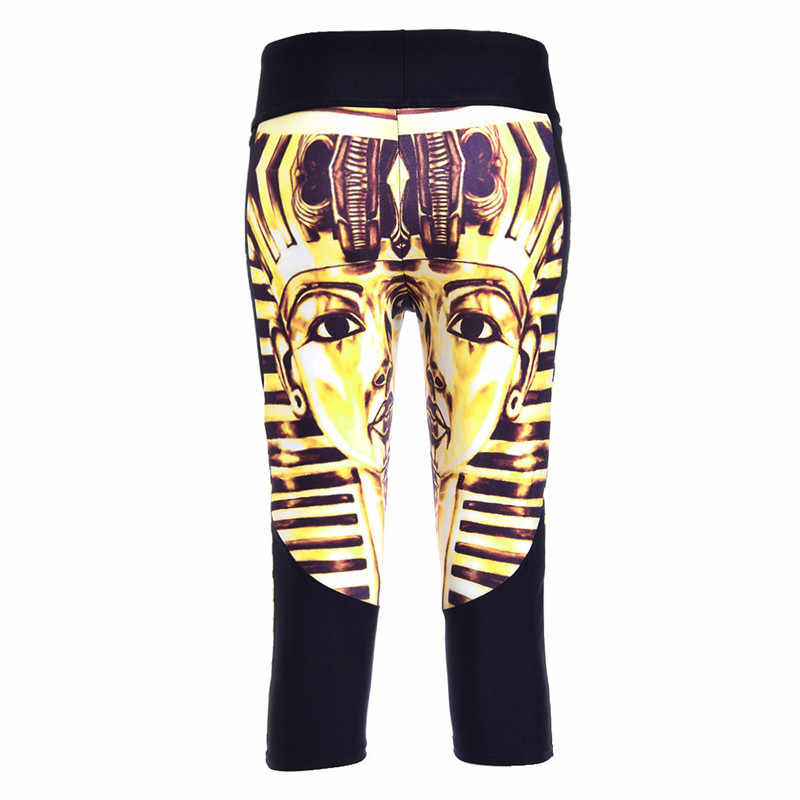 060ba41bd8 ... Summer styles Sexy 2015 women s 7 point pants Ancient Egyptian Pharaoh  digital print women high waist ...