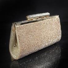 Wir Best-preis-diamant Eveningbag High Grade Voller Rhinestone-abendessen-beutel/Kupplungs-geldbeutel/Hochzeit Tasche Schwarz Silber SMYCYX-E0070