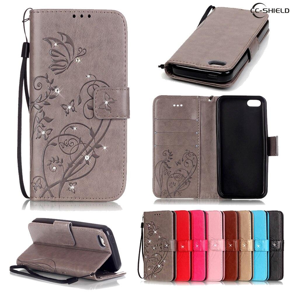 Flip Case for Apple iPhone 5C 5 C Card Slot Retro fashion Leather Diamond Phone Case for Apple i Phone 5C Phone5C iPhone5C capa