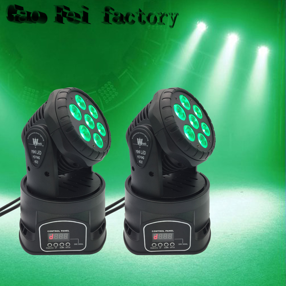 RGBW Light LED Moving Head Wash Light 7*12W DMX 14 Channels LED Stage DJ Light 19 12w high power led rgbw wash light 16 channels ac90 240v moving head light professional stage