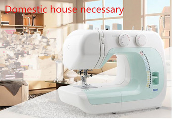 No oil household sewing machine with sewing thick gas elastic material