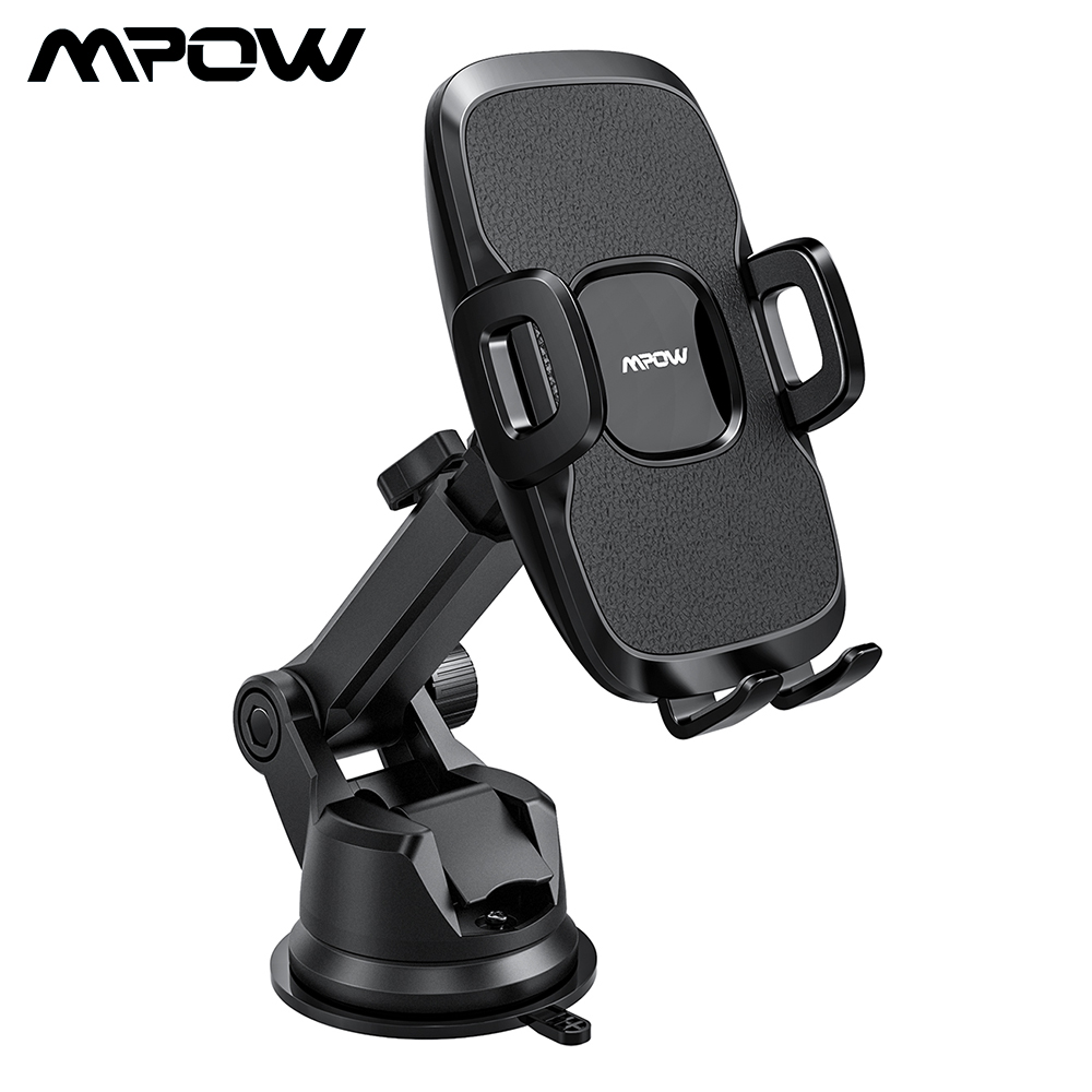 Mpow Car Phone Holder Universal Dashboard Windshield Car Mount With 2 Suction Levels And Washable Gel Pad For IPhone 7 Xiaomi