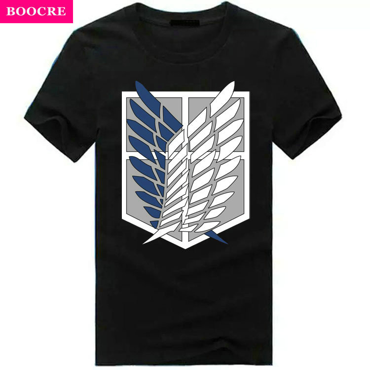 BOOCRE Summer Japanese Anime Attack On Titan T Shirt Tops Fluorescent T...