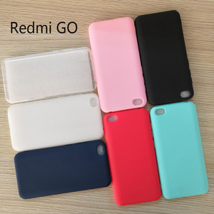 Image 1 - Crystal Clear and Candy silicone Soft TPU Case For Global Version Xiaomi Redmi GO 5.0 Mobile Phone back cover Redmi GO case
