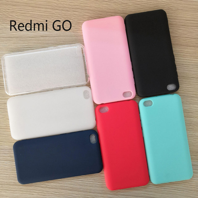 Crystal Clear and Candy silicone Soft TPU Case For Global Version Xiaomi Redmi GO 5.0 Mobile Phone back cover Redmi GO case
