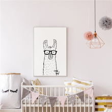 The Anime Lama Minimalist Canvas Painting Oil Print Poster Wall Art HD Picture For kid Living Home Bedroom Decor print bar hipster lama