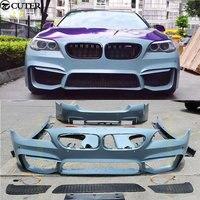 F10 F18 5 серии M5 Комплект кузова PP Неокрашенный фронт бампер переднее крыло сторона юбки для BMW F10 F18 M5 11-15