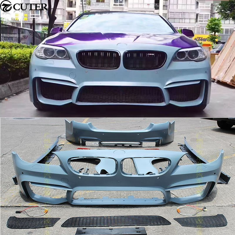 Car Body Kits >> Us 1245 59 28 Off F10 F18 5 Series M5 Car Body Kit Pp Unpainted Front Bumper Front Fender Side Skirts For Bmw F10 F18 M5 11 15 In Body Kits From