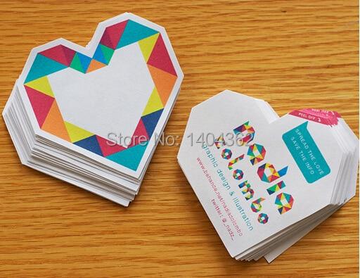 500pcs lot Custom shape Business Cards Die cut shape paper business cards printing 500pcs a lot