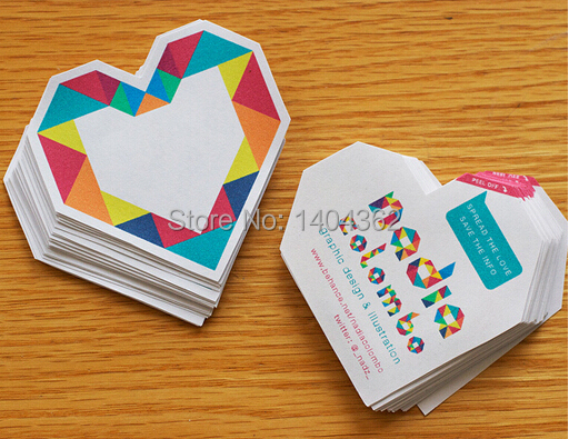 500pcs/lot Custom shape Business Cards Die cut shape,  paper business cards printing, 500pcs a lot wholesale with free shipping-in Business Cards from Office & School Supplies