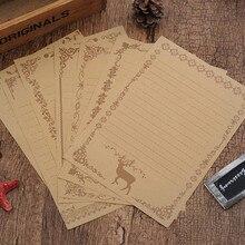 8 шт./лот, винтажная Ретро белая черная крафт-бумага, набор бумаги для письма, канцелярские принадлежности, блокнот для письма, для школы, офиса