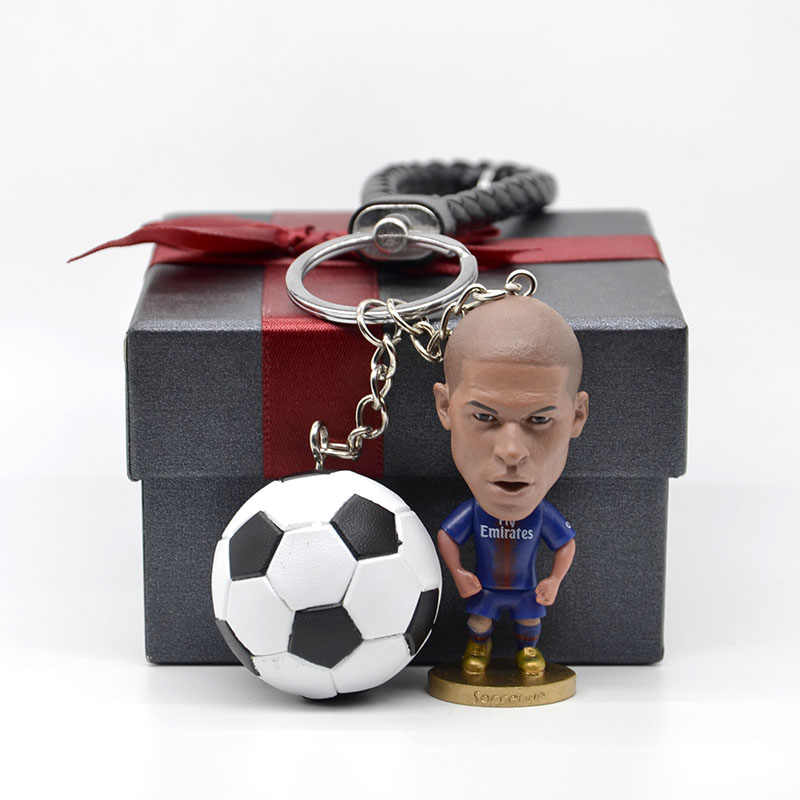 Soccerwe PSG Soccer Mbappe figurine with keychain Mbappe action figure Toys Christmas Birthday football gifts for Soccer Fans