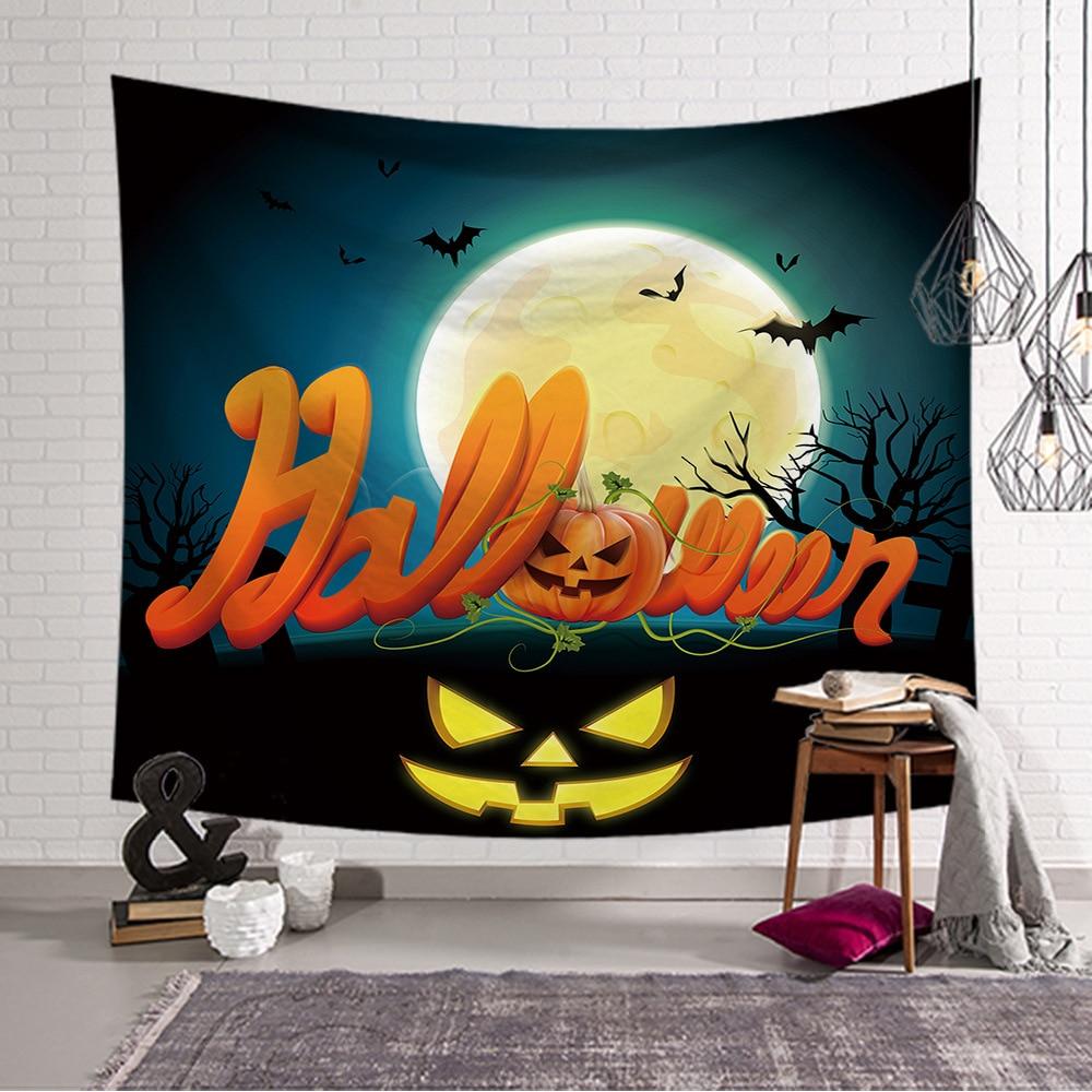 Tapestry Wall Hanging Decor Halloween Pumpkin Printed Carpet Home Living 100*150/150x130/150*200/230