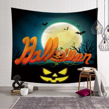 Tapestry Wall Hanging Decor Halloween Pumpkin Printed Carpet Home Decor Hanging Living Wall Tapestry 100*150/150x130/150*200/230 halloween witch printed waterproof wall hanging tapestry