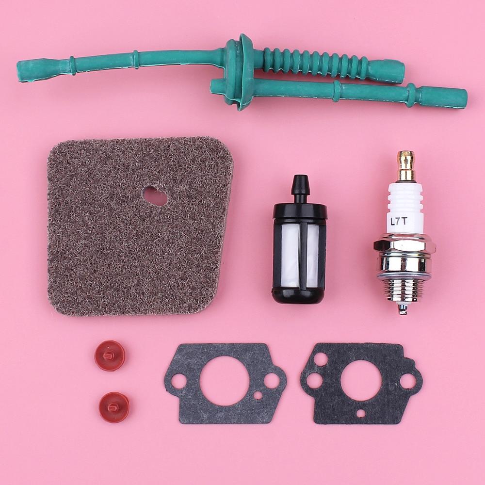 Air Fuel Filter For Stihl FS38 FS45 FS46 FS55 HL45 FC55 Trimmer Engine Part Spark Plug Gasket Check Valve Kit