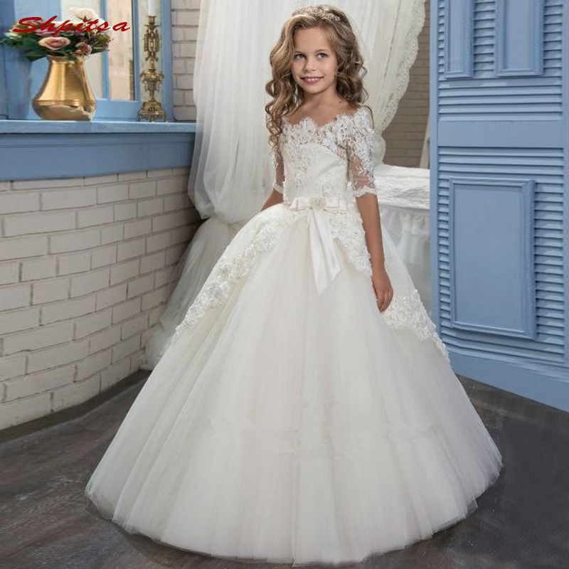 Flower     Girl     Dresses   for Wedding Party 2018 First Communion Pageant   Dresses   for   Girls   Flowergirl   Dresses