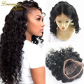 Full Lace Human Hair Wigs for Black Women Indian Virgin Hair Loose Wave natural color Lace Front Wigs Loose Curly Free Shipping