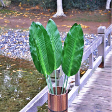 85-115cm artificial banana leaves Big flowers plant Large floral wedding home decoration materials Spring