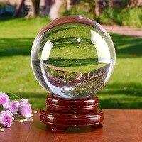Прозрачная фотография хрустальный шар 200 мм стеклянные шарики шары для украшения фэн шуй домашний декор Сферический магический Глобус офис