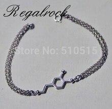 Regalrock Chemistry BioChemistry C8H11NO2 Molecules Dopamine Charms Bracelet