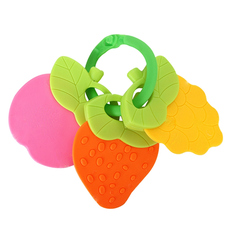 Newborn Toy Bell Teeather New Baby Toys Animal Rattle Toddler Jingle Shaking Bell Music Plastic Hand Kids Cute Fruit ...