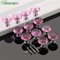 Bowarepro Diamond Crystal Glass Cabinet Handle Kitchen Furniture Hardware Door Handle Furniture Accessory 30mm 12pc 36Pcs