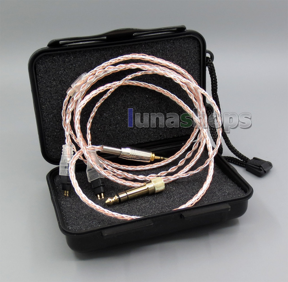 800 Wires Soft Silver + OCC Alloy Teflo AFT Earphone Headphone Cable For Sennheiser HD414 HD420 HD430 HD650 HD600 HD580 LN05400 800 wires soft silver occ alloy teflo aft earphone cable for westone es3x es5 um2 um3xrc um3x w4r ln005403