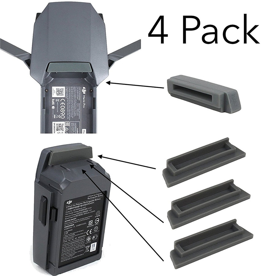 4 Pack DJI Mavic Pro / Platinum Drone And Battery Terminal Water-resistant Dust Cover Plug Accessory