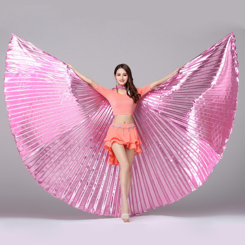 10 Colors Stage Performance Props Dance Accessories Egyptian Gold Wings Non-split  Belly Dance Isis Wings 270 Degree