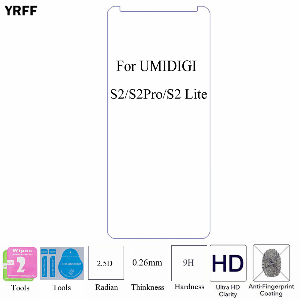 10PCS For UMIDIGI UMI S2/S2 Pro/s2 lite/Z1 Z2 Pro/A1 pro/C NOTE 2 Tempered Glass Screen Protector Protective Film Free Tools
