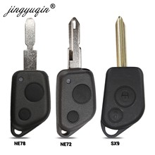 jingyuqin Remote Entry Key Fob Shell Case For Citroen Elysee Saxo Xsara Picasso Berlingo C2 C3 for Peugeot 106 206 306 205 405(China)