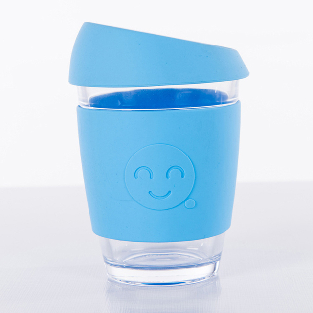 Glass Coffee Cup with Silicone Holder