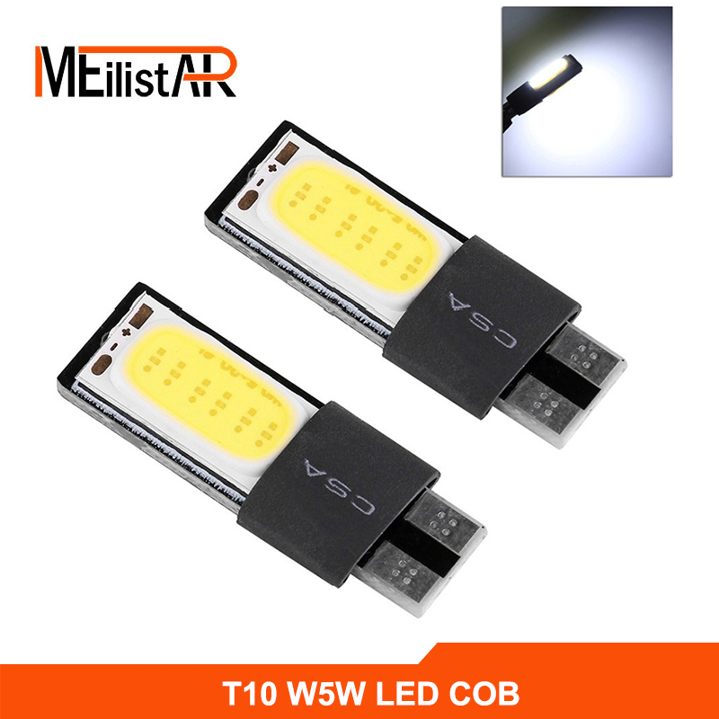 High power t10 w5w led cob car led t10 5w5 12v t 10 bule white car light fog Lamp interior light w5w t10 canbus error free