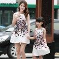 2017 nueva marca clothing a juego vestidos de ropa de la familia de madre e hija familia mirada de la muchacha y vestido de la madre de la madre y la hija