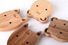 Kalimba 17 Keys Thumb Piano Red Oak Pineapple Solid Single Wood Openwork Finger Piano Musical Instrument Bear Bull Head