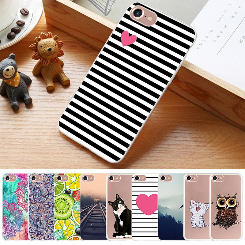 Fashion Cartoon Printed TPU Phone Case For iPhone 8 6S 6 7 Plus 5 5S SE 4 4s Lovely Pattern Painted Cover For iPhone XS Max X XR