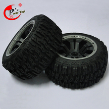 King Motor Baja T1000 Pioneer rear tire completed set with poision rim for HPI BAJA 5T 5SC Parts Rovan
