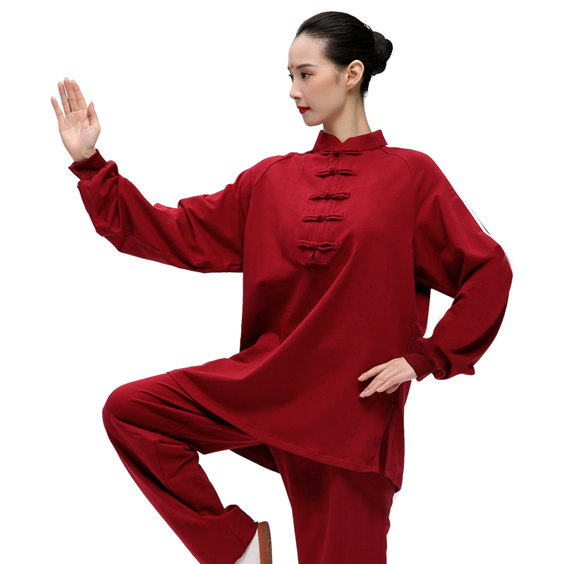 Mountain Man Pure Cotton Chi Serve Woman Autumn Thickening A Martial Art Serve Soft Comfortable Practice Serve Taiji Boxing