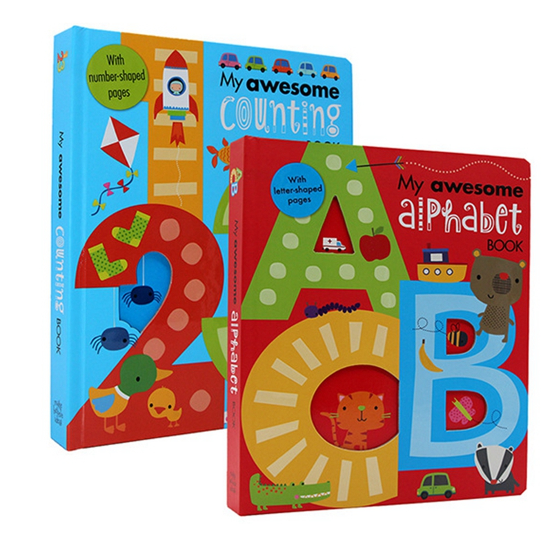 2 Books Set My Awesome Alphabet ABC My Awesome Counting 123 Children picture book in English