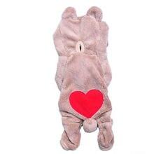 Pet Dog Cat Clothes Hoodie Jumpsuit Coat Apparel Puppy Bear Hoodie Costume
