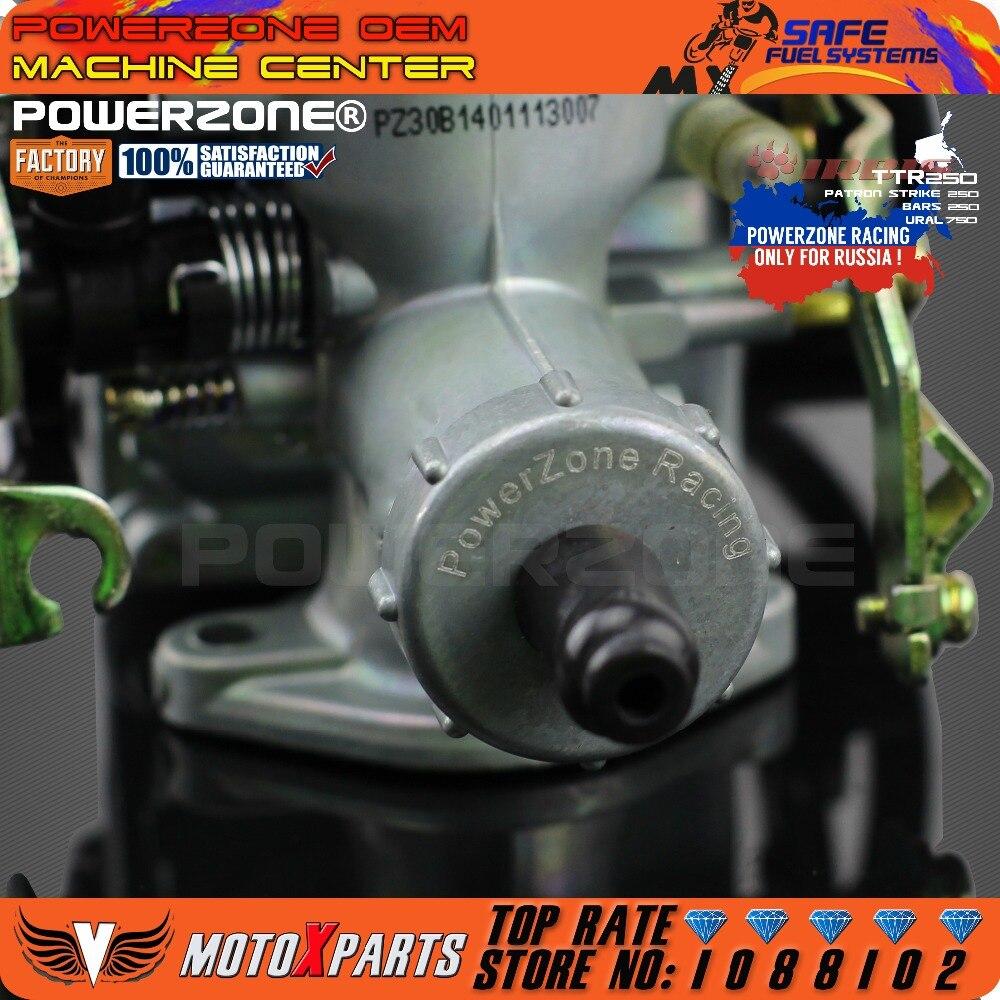 PowerZone PZ30 30mm carburateur accélération pompe course 200cc 250cc pour Keihin ABM IRBIS TTR 250 avec double câble d'accélérateur - 6