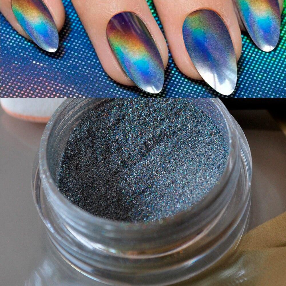 1g Grey Silver Glitter Powder Shinning Mirror Eye Shadow Makeup Powder Dust Nail Art DIY Chrome